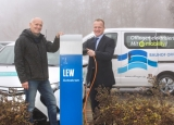 von links: Herr Endraß, LEW, Herr Bürgermeister Wörz
